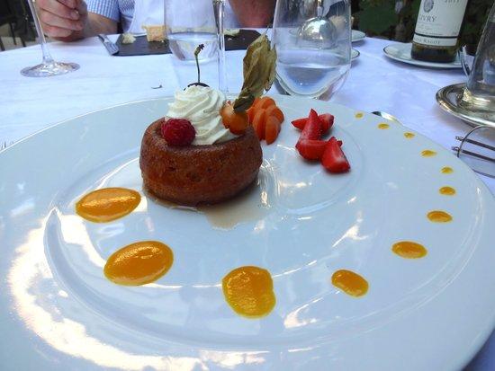 Restaurant Le Relais : Rhum Baba at the Relais Restaurant terrace