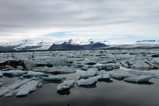 Jokulsarlon Lagoon : overall view of the lagoon