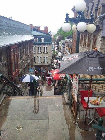 Old Quebec: Les escaliers