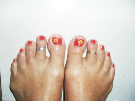 Swastika Bungalows : Make sure to get your toes done. Be prepared for the cost though. It could be as high as AUD 6!