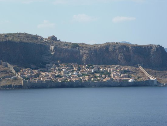 Upper Town of Monemvasia: Monemvasia old town from the sea