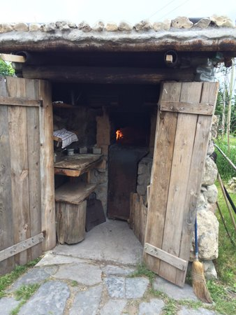 Haisai: Outside wood fire pizza oven.