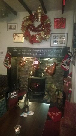 The Kings Arms: cosy by the fireside