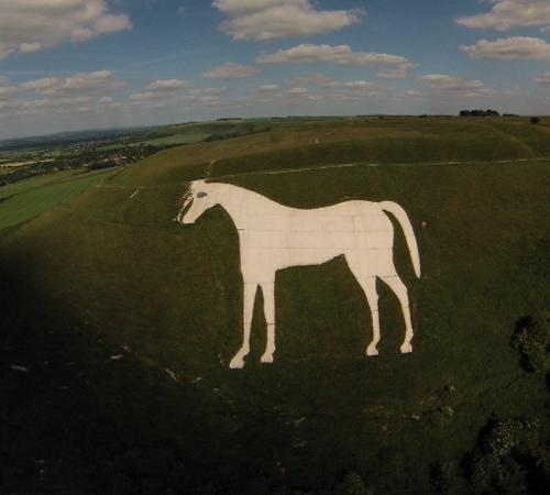 Westbury White Horse: Aerial view of horse