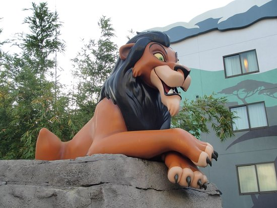 Disney's Art of Animation Resort: Scar in Lion King section