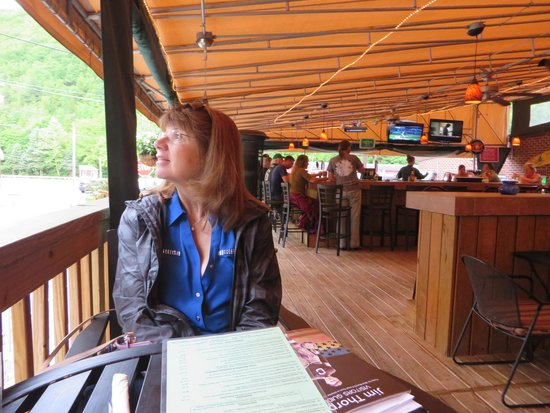 Molly Maguires Pub & Steakhouse: The outside deck. Very large with bar and TV's