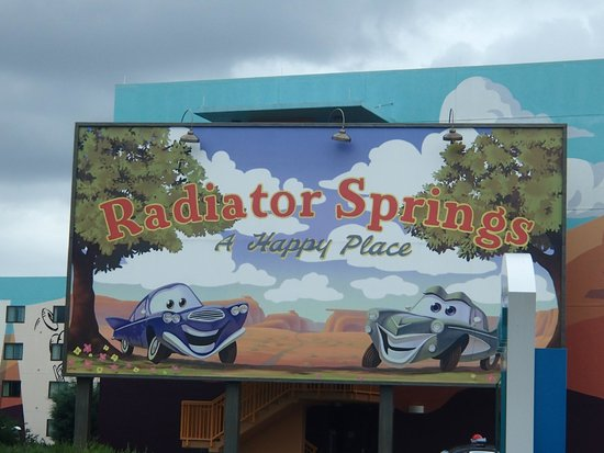 Disney's Art of Animation Resort: Beginning of the Cars section