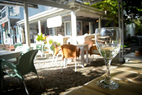 The Tin House Cafe: A glass of wine goes well with lunch ...