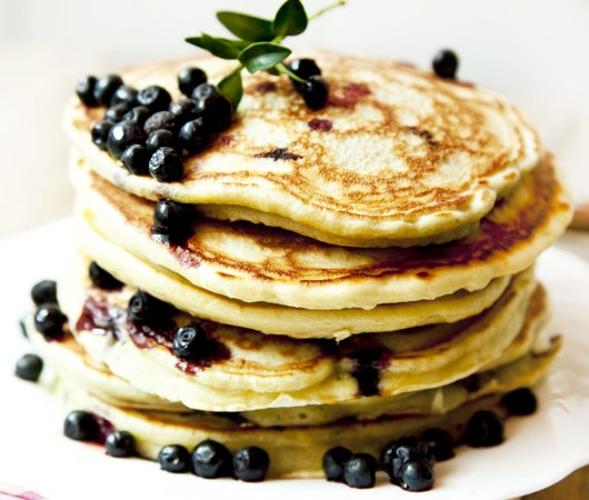What a Dish Cafe & Catering: BlueBerry Buckwheat Pancakes.