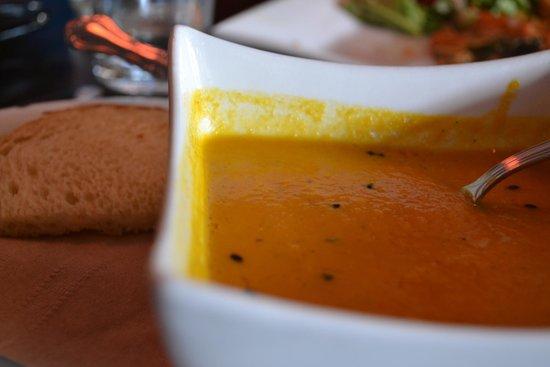 Nourish Vegetarian Bistro: Carrot, Ginger, Cumin Soup