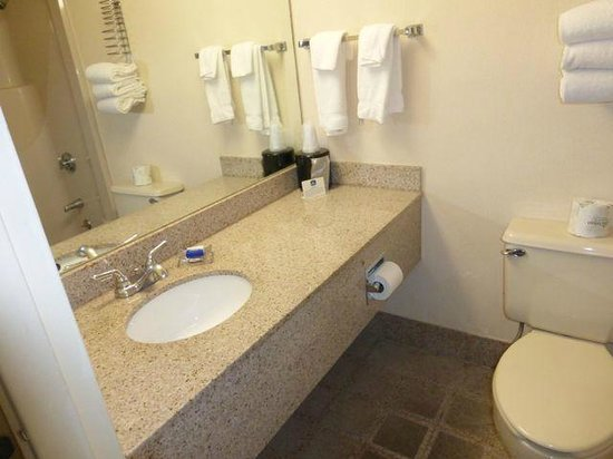 Best Western Westgate Inn: Vanity in the bathroom (beasts the one in the room)