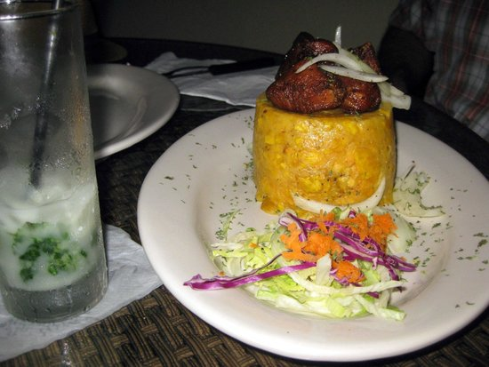 Luquillo Sunrise Beach Inn : Mofongo at the Luquillo Kiosks