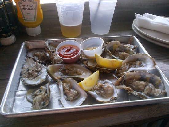 The Salty Pelican Bar & Grill: oysters before