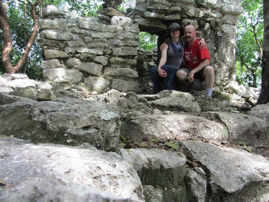 Coba Ruins: A lonely temple we found in the jungle