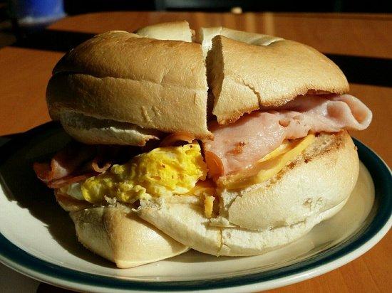 Big Apple Bagels: Bagel sandwich