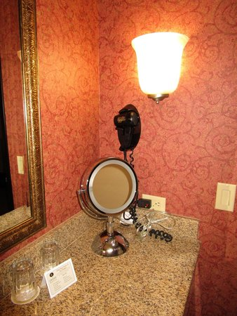 The Grand Hotel in Salem: Hair Dryer & Lighted Mirror