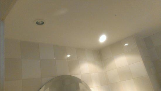 Holiday Inn London-Gatwick Airport: Light bulb in toilet burned