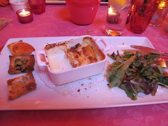 Les Amourettes - L'Isle de Grand-Mere : Lasagnette aux 4 fromages