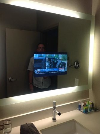 The Hollis Halifax - a DoubleTree Suites by Hilton: tv in mirror!