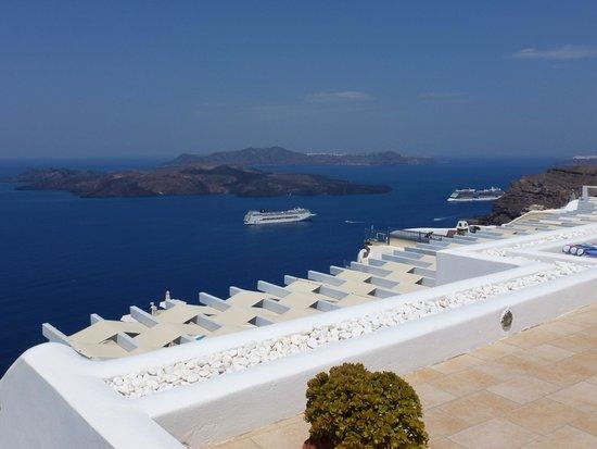 Lilium Villas Santorini: Terrace view