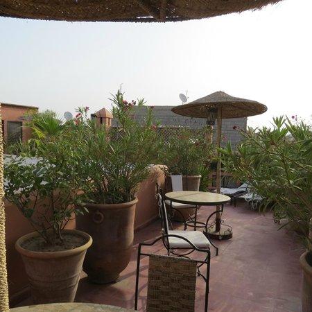 Riad Miski : Rooftop, where breakfast is served