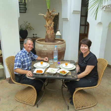 Riad Miski: The Reviewer enjoying one of those feasts