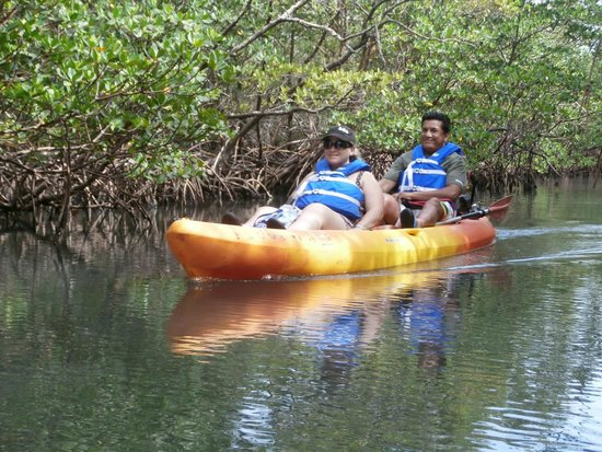 Motorized Kayak Adventures: Here are my husband and I enjoying the tour.