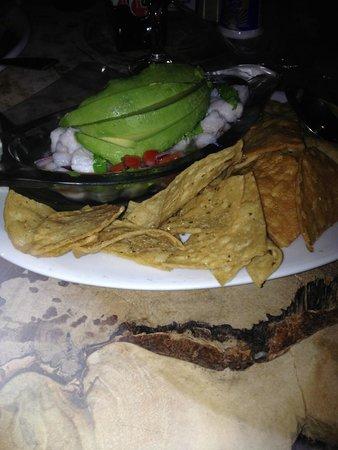 Restaurante Rana Roja: ceviche
