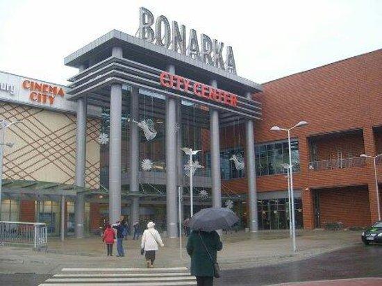 Bonarka City Center: from the car park on a rainy day