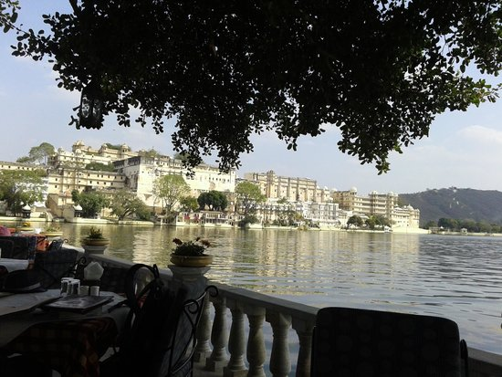 View of City Palace from Ambrai Restaurant