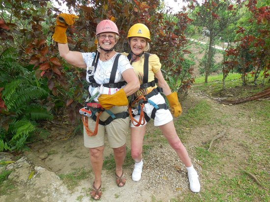 Hotel Riu Palace Bavaro : Getting ready for the Zip Line