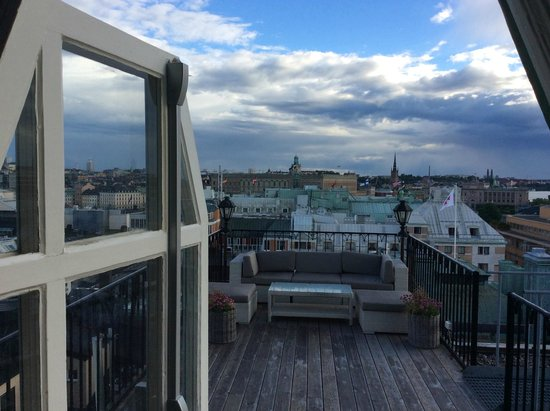 Radisson Blu Strand Hotel, Stockholm : view to the terrasse