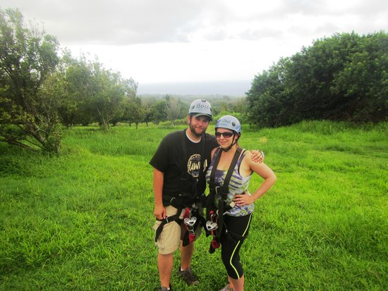 Big Island Eco Adventures II Zipline Canopy Tour: nice spot for a picture
