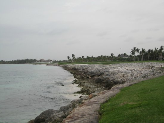 La Cana Golf Course: Holes 8/9 are right on coast