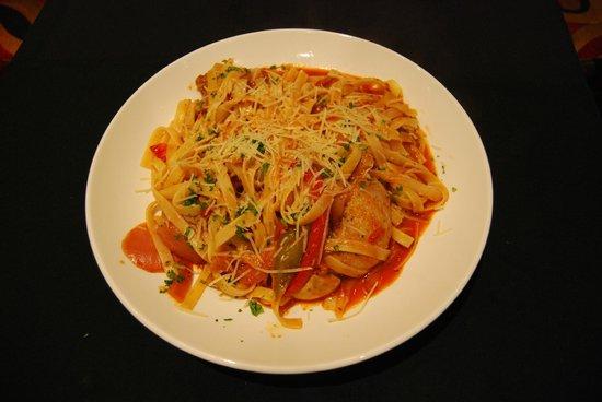 Cornerstone Bistro : Pasta with homemade meatballs and sausage