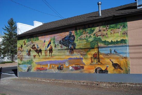 Days Inn Williams: Mural in Williams, Az.