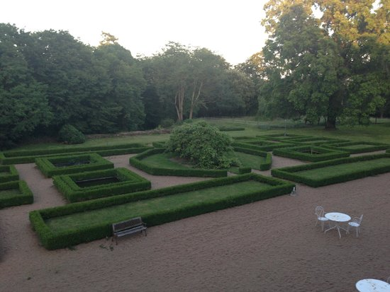 Chateau de Cop Choux : View from the room on the garden at the rear