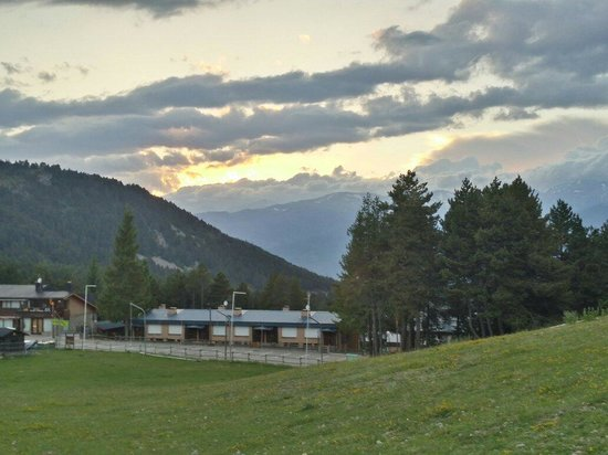 Alp Hotel Masella : Atardecer desde Alp Masella