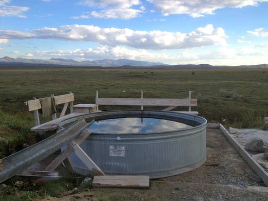 Wild Horse Safaris: The local hot springs, 10 minute drive from the ranch