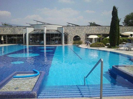 Hotel Sollievo Terme: Piscina termale esterna
