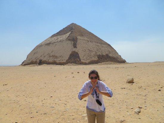 Dahshur : Pirâmide torta - tentativa fail