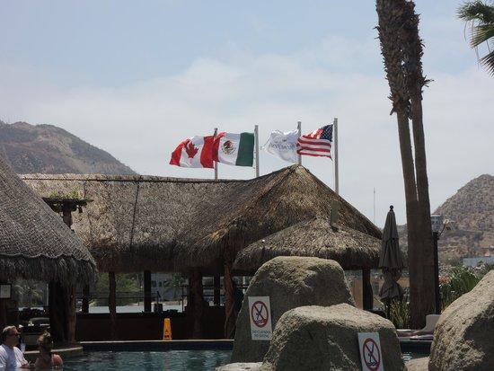 Marina Fiesta Resort & Spa: love the patriotic flags