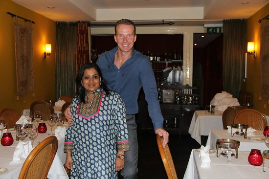 Indian Restaurant Maharani: Rob and Pia, who run the place
