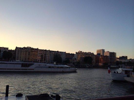 La Plage Parisienne: Blick auf die Seine