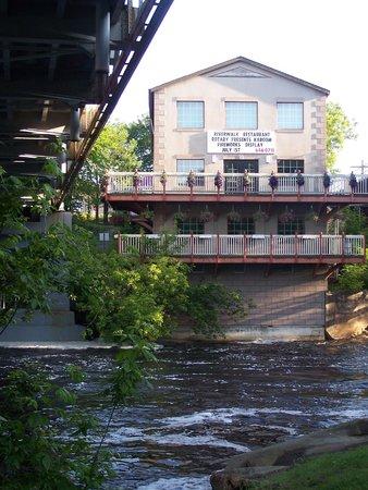 Riverwalk Restaurant, With Patio, Overlooking S. Branch Of Muskoka River,  Above The