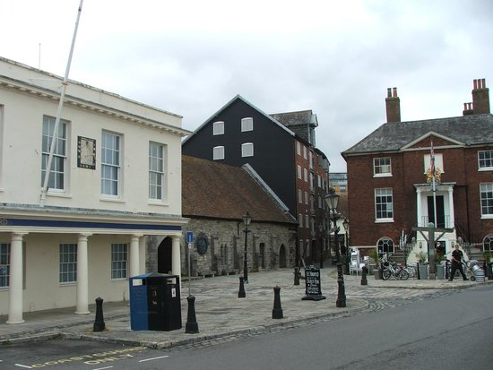 Poole Harbour: The old Customs house and Coast guard buildings on the Quayside