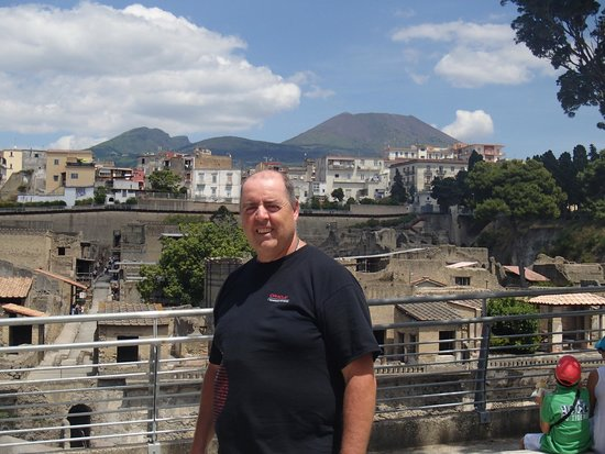 Ruins of Herculaneum: With Mount Vesuvius in the back