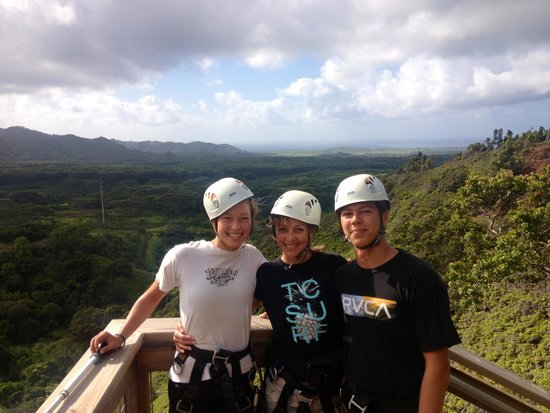 Skyline Eco Adventures: Thanks, Luke, Justin & Jose! We had a blast!