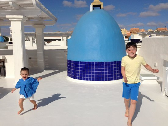 Bahiazul Villas & Club : Space to play on the roof!