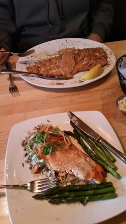 Apache Trout Grill : Pan seared arctic char